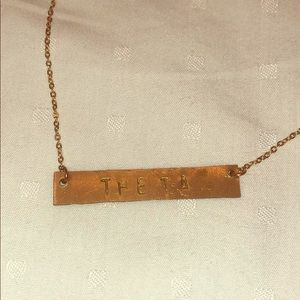 Theta 14k gold plated necklace
